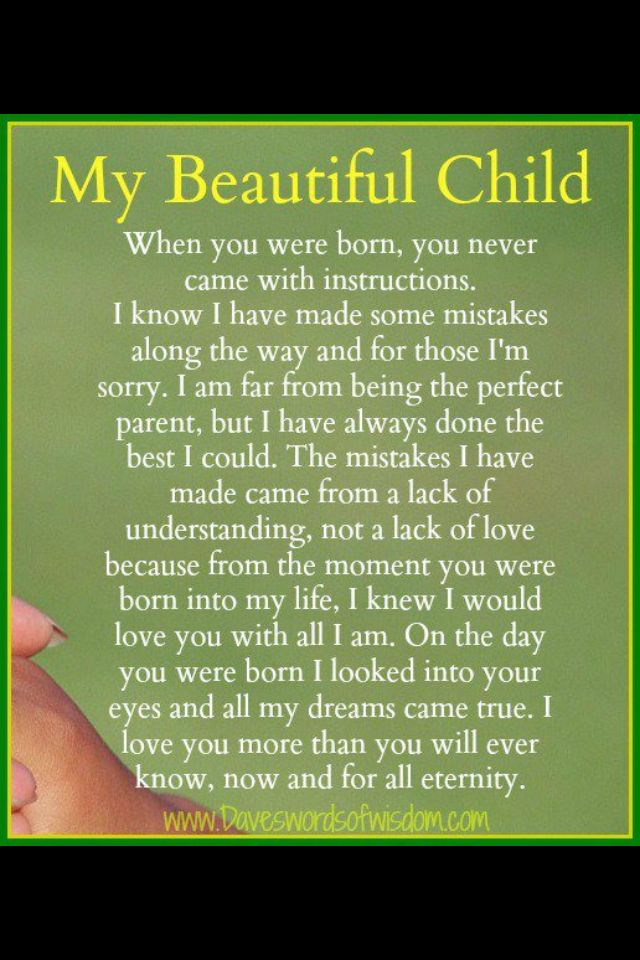 My Beautiful Child Quotes Quote Child Kids Mom Mother Family Quote Family Quotes Children Mother Quotes