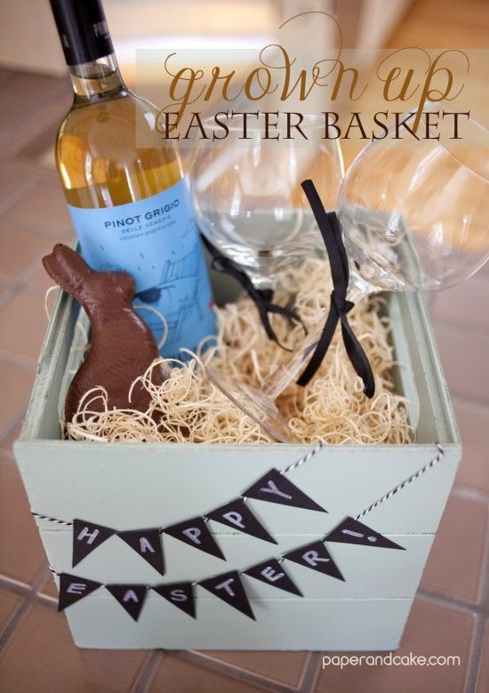 Paper and Cake | A GROWN UP EASTER BASKET! | http://www.paperandcake.com