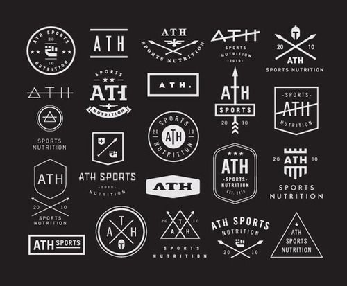 Contemporary Logo Design  Several modern logo concepts designed by Nick Hoodfor ATH Sports Nutrition, a small company created by athletes to improve athletic peak performance.  via: WE AND THE COLORFacebook//Twitter//Google+//Pinterest