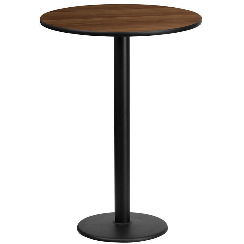 Round Bar Tables 24 Inch 30 Inch 36 Inch Or 42 Inch Tables Bar Height Table Laminate Table Top Pub Table