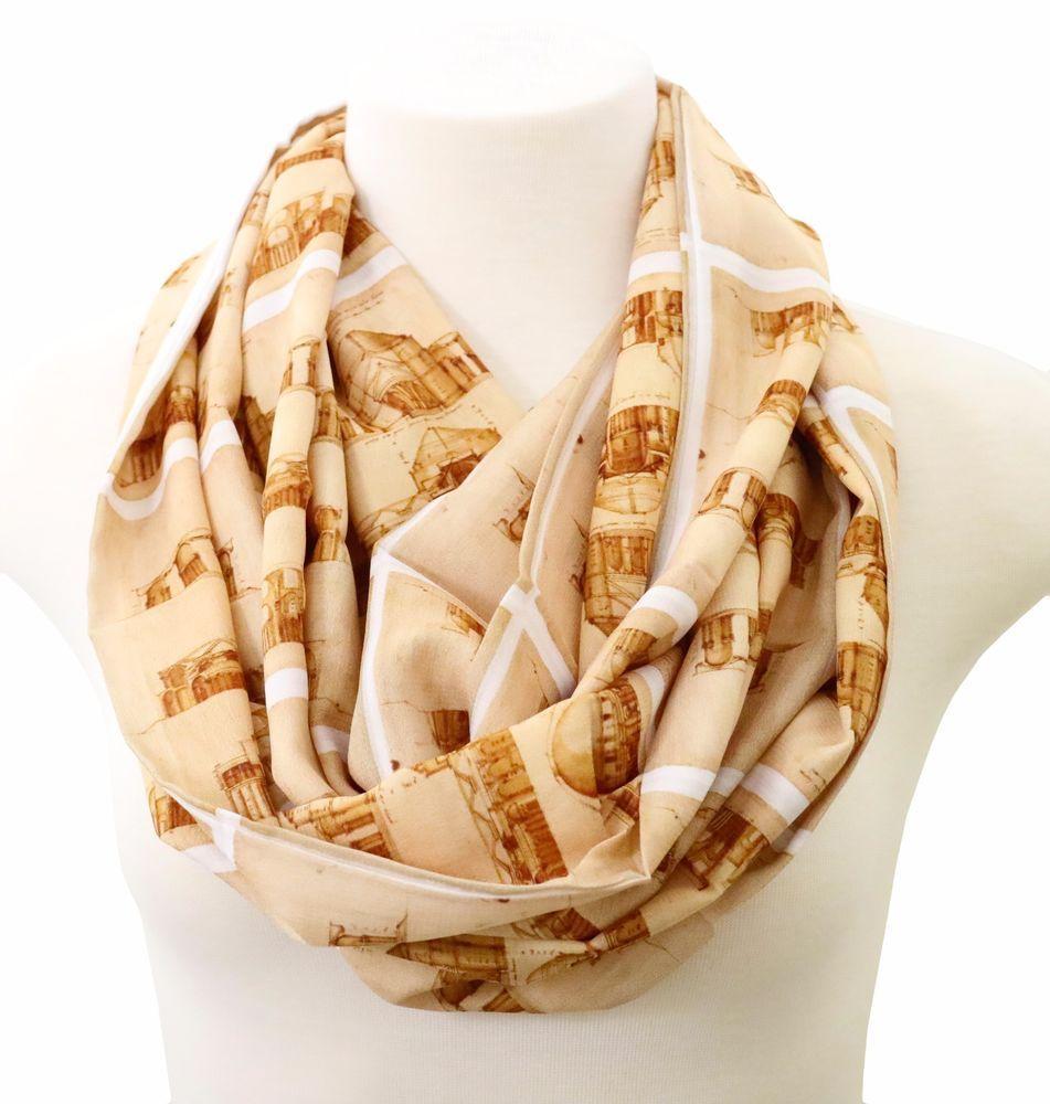 Palladio scarf architectural scarf birthday gift for architects graduation gift #Handmade #Infinityscarf #Birthdayanniversarygraduationgiftforher