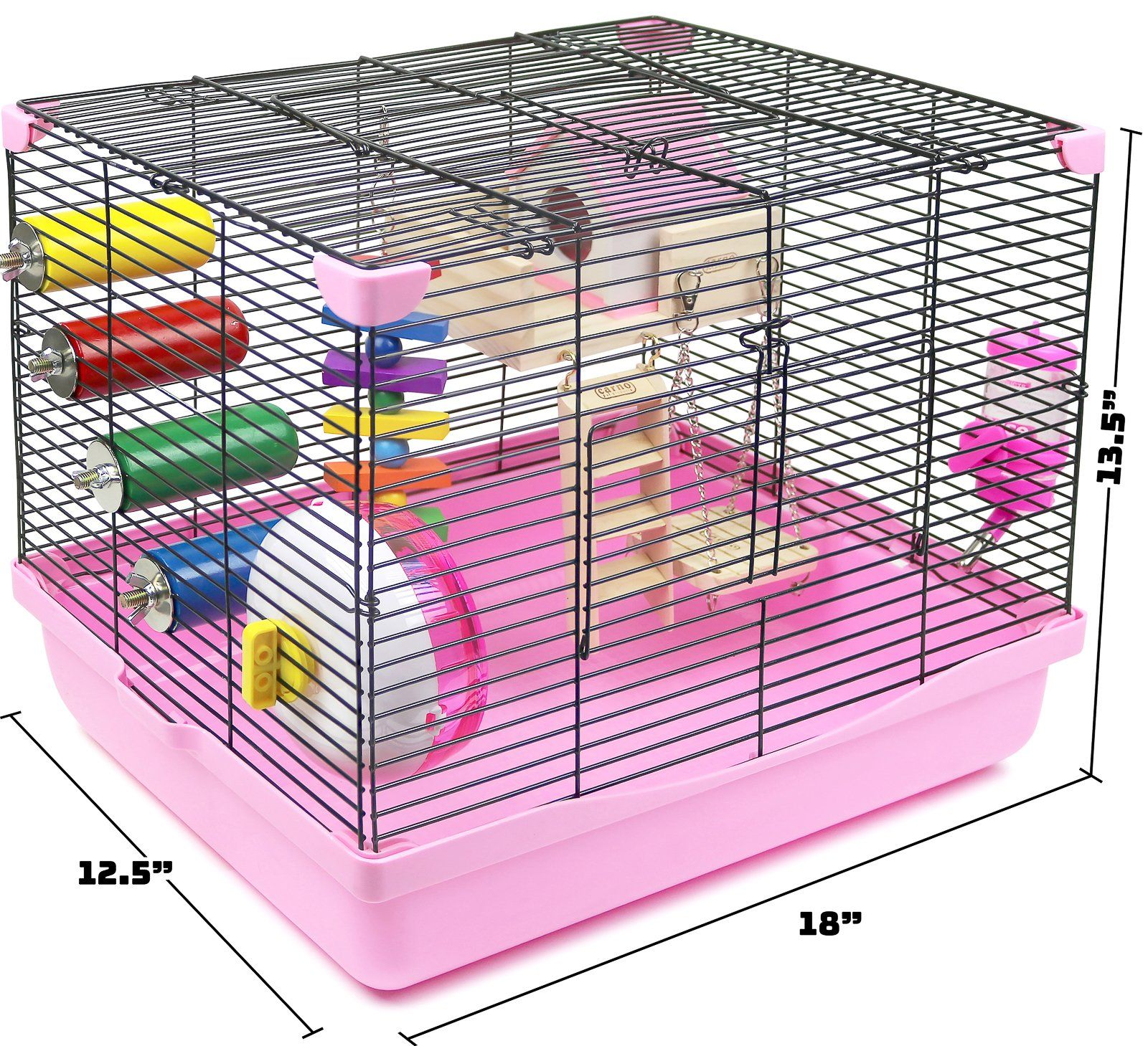Galapet Hamster And Gerbil Cage Habitat With Toys Pink Read