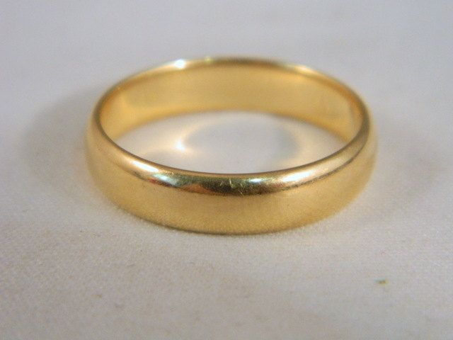 14k Gold Wedding Ring Vintage Yellow Gold Thick Simple Wedding Band Men Or Women Romany Wed Gold Wedding Rings Vintage 14k Gold Wedding Ring Wedding Rings