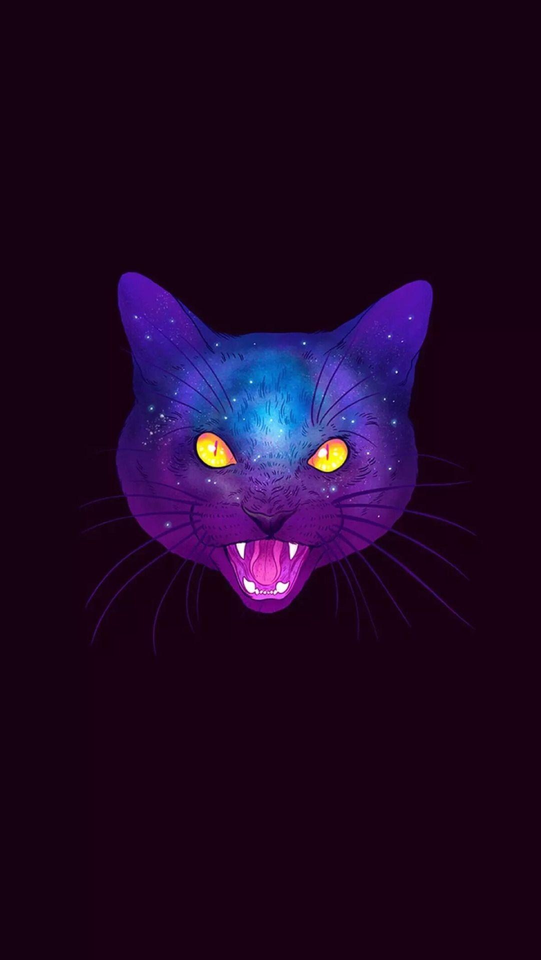 Iphone Wallpapers Trippy Cat Cat Painting Cat Design Art