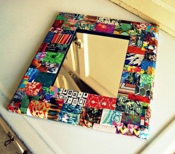 eclectic upcycled magazine decoupage framed by