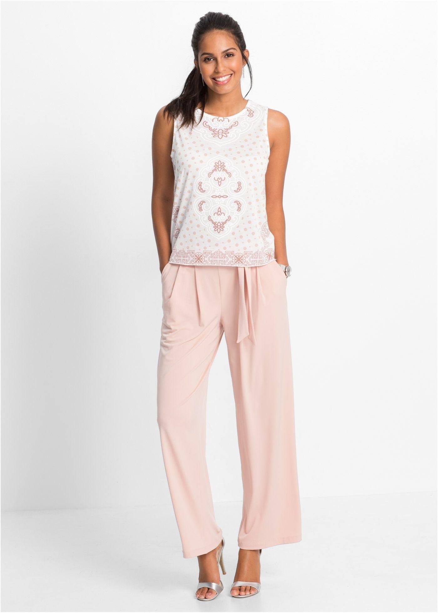 fade18775e8144 Weite Hose mit Gürtel vintagerosa jetzt im Online Shop von bonprix.de ab    29
