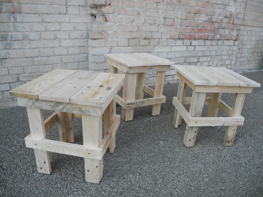 hocker aus europaletten pallet stool by www. Black Bedroom Furniture Sets. Home Design Ideas