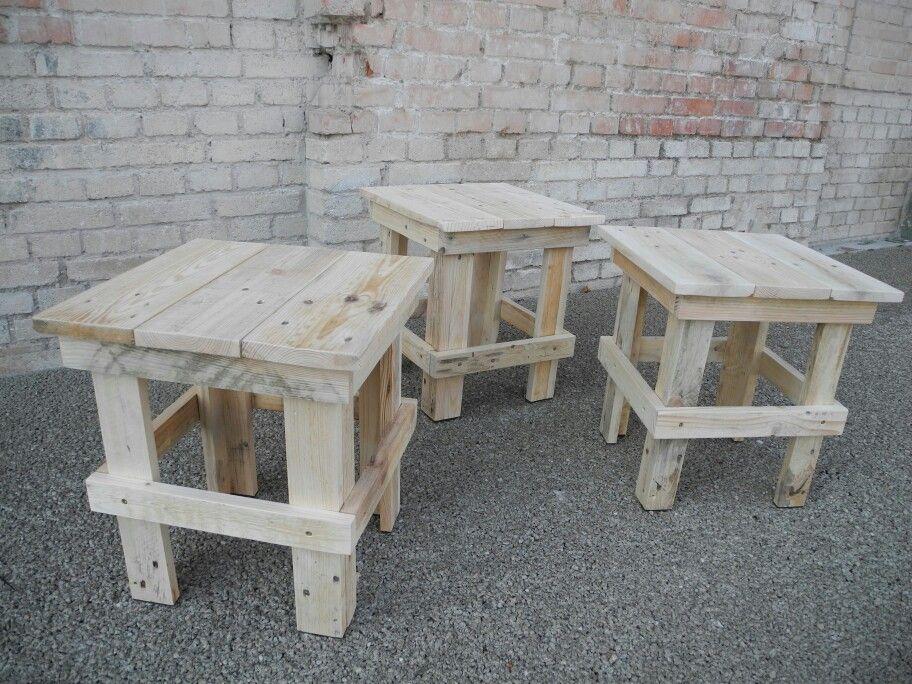 Hocker aus Europaletten. Pallet stool.  By www.altholzdesignseoane.com