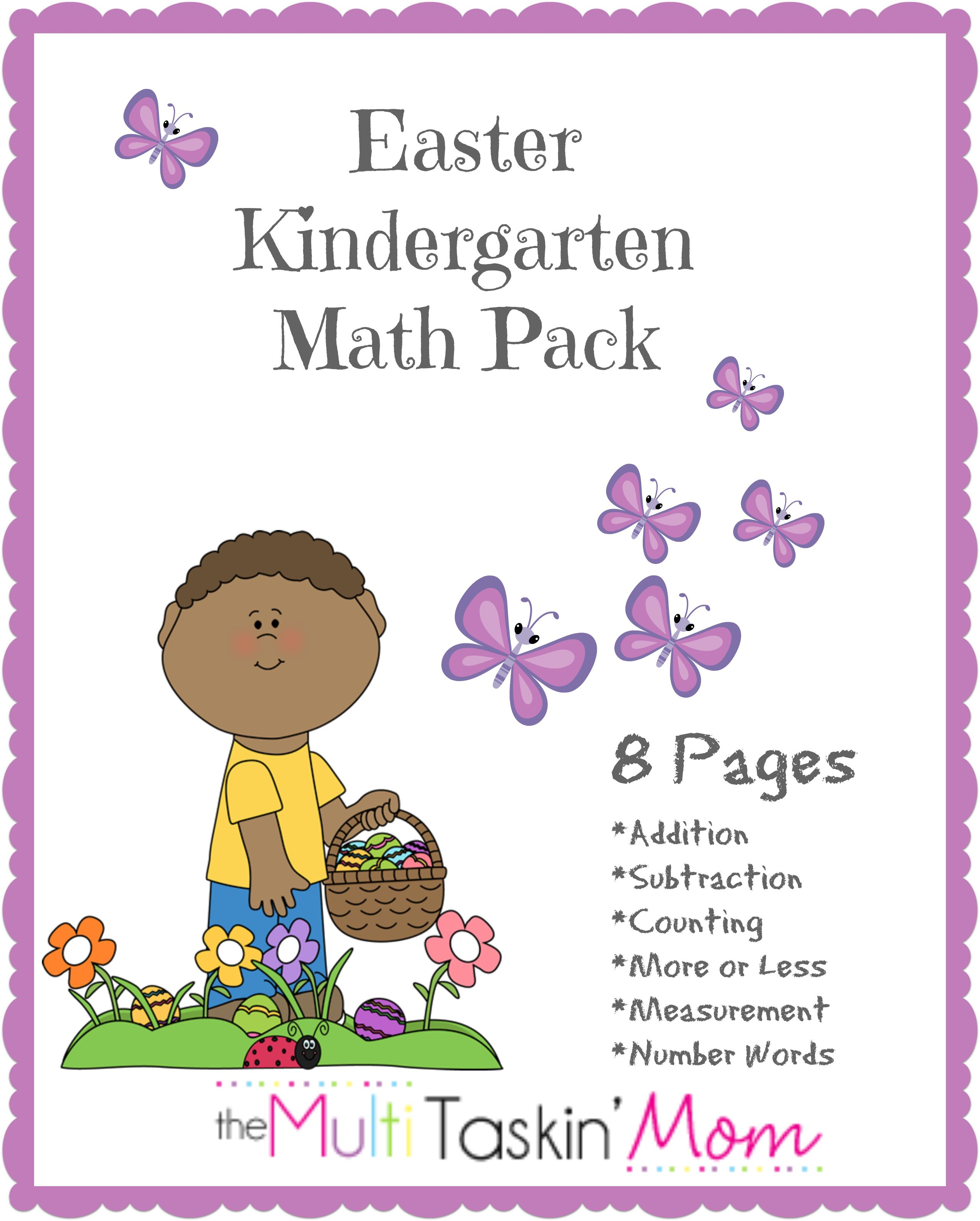 Free Easter Printables Kindergarten Math Pack