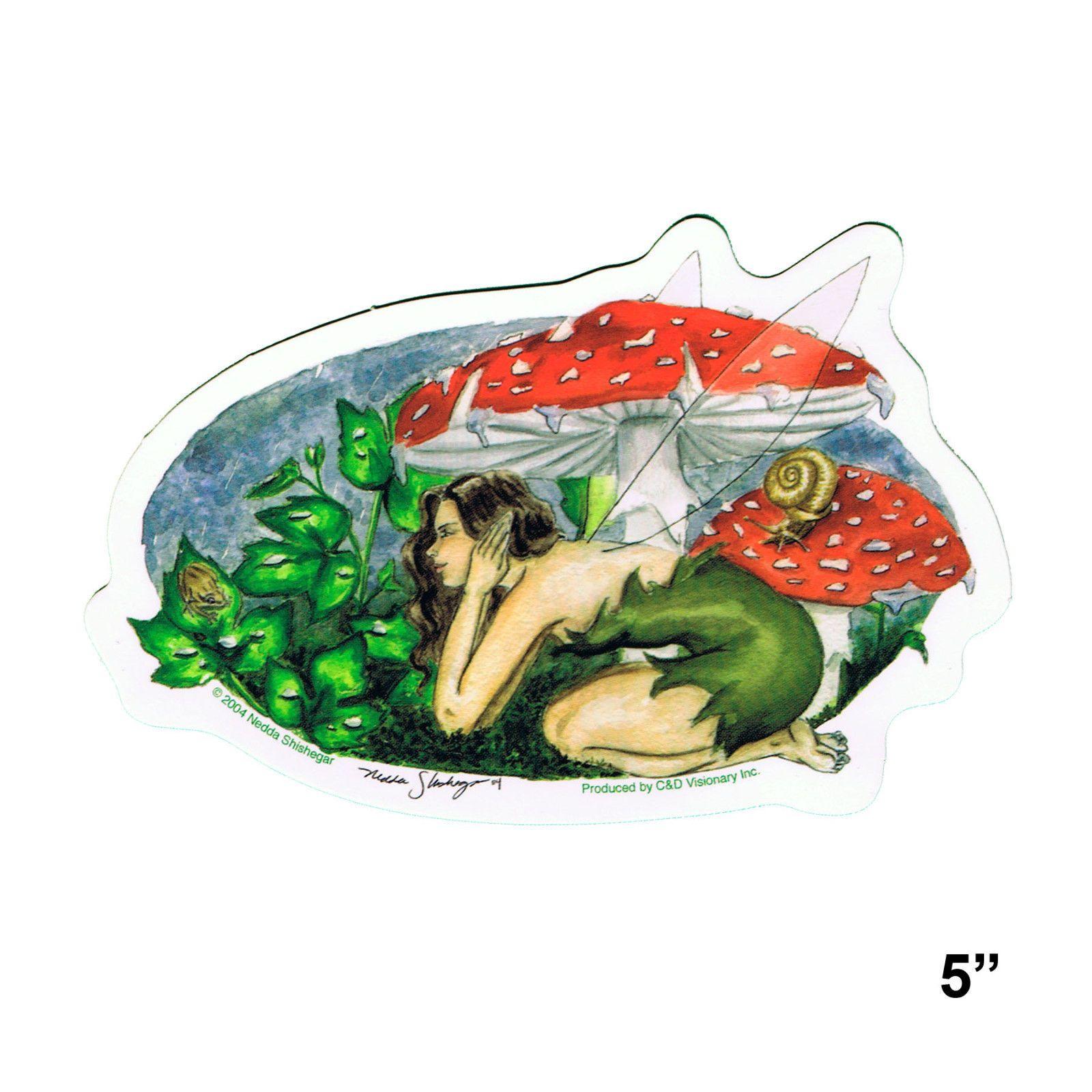 STICKER Nedda Shishegar Mushroom Fairy Official Vinyl Decal SD41