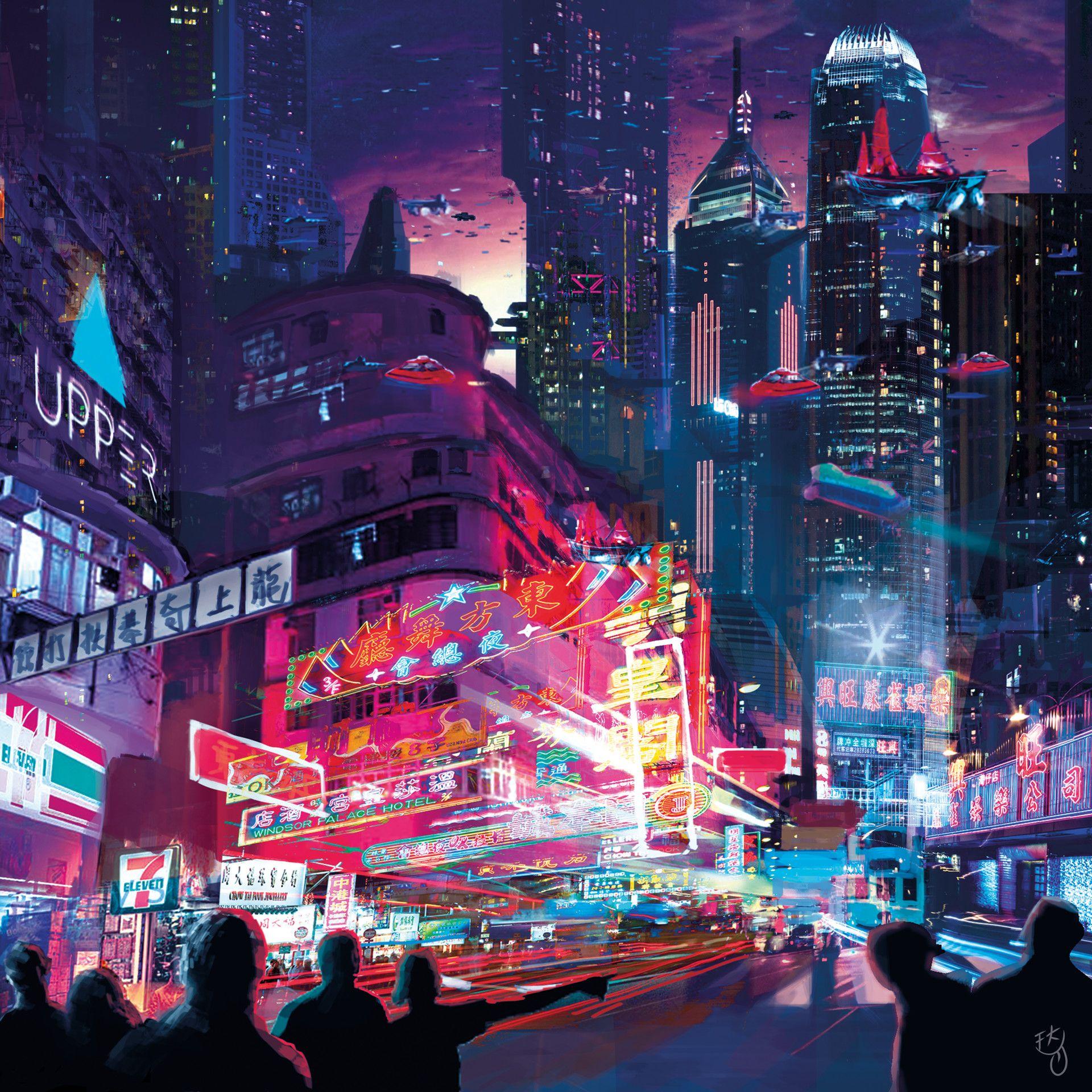Artstation Futuristic Hong Kong Scarlett Fu Futuristic City Cyberpunk City Dystopian Books