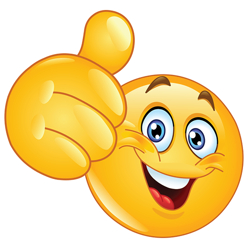 Thumbs Up Emoticon | Emoticon, Smileys and Happiness