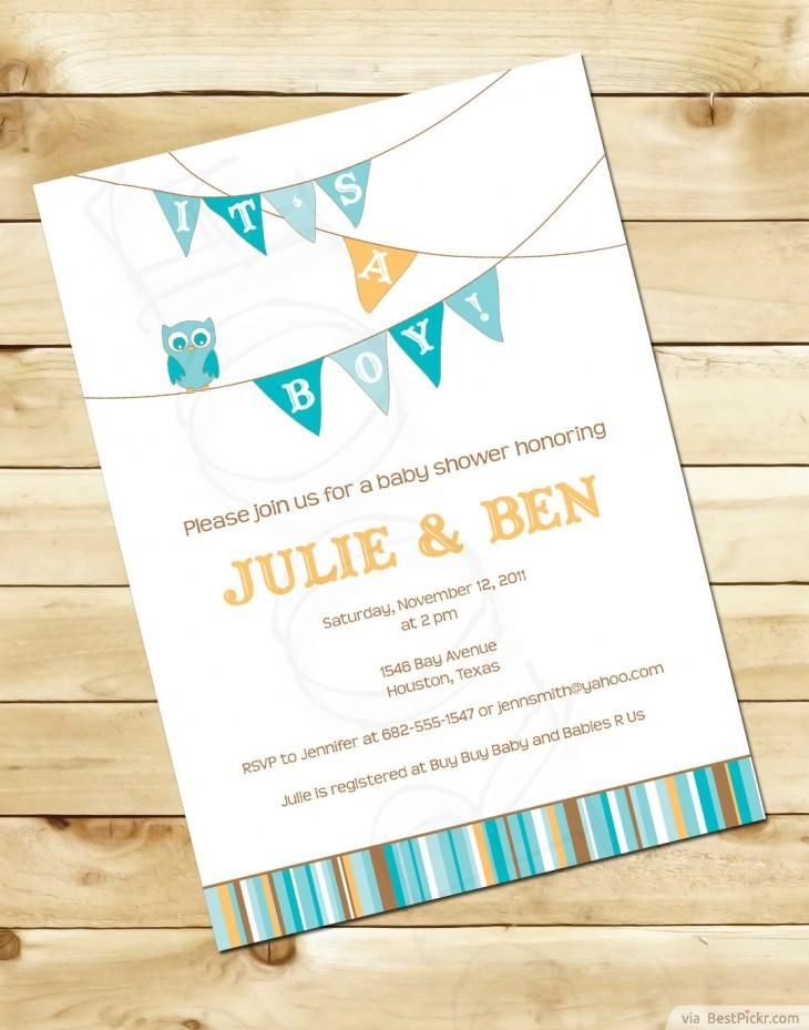 Simple Baby Boy Shower Invitation With Flags ❥❥❥ http://bestpickr ...