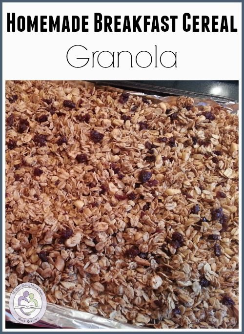 Make Your Own Breakfast Cereal: Homemade Granola Recipe | Mother Daughter Book Reviews