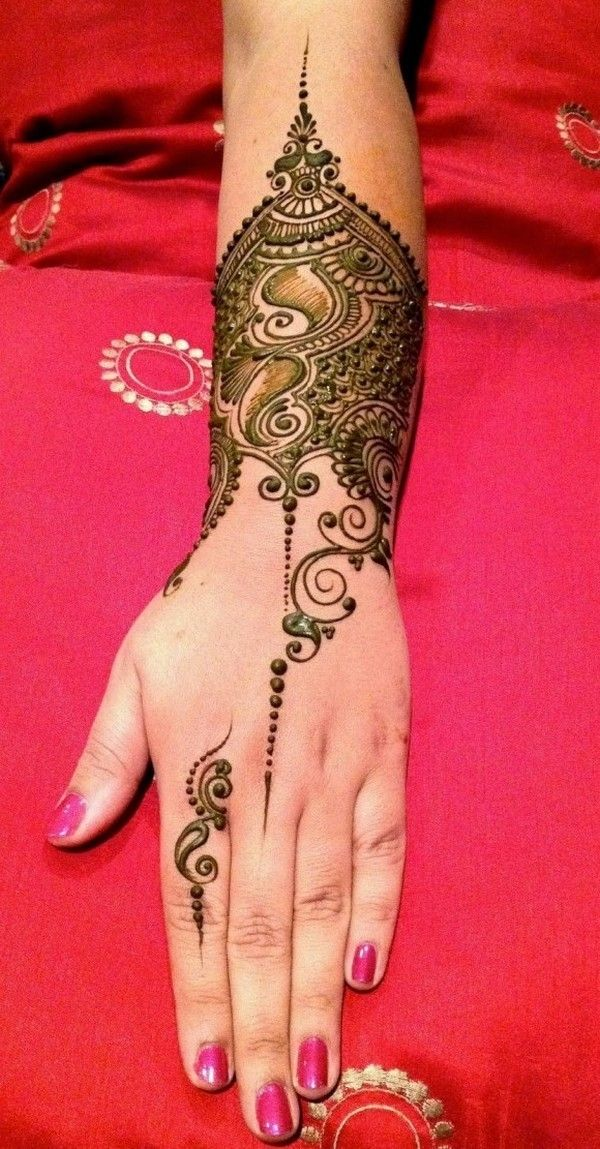 Mehndi Designs And Hairstyles : Simple arabic mehndi designs hijab styles pinterest