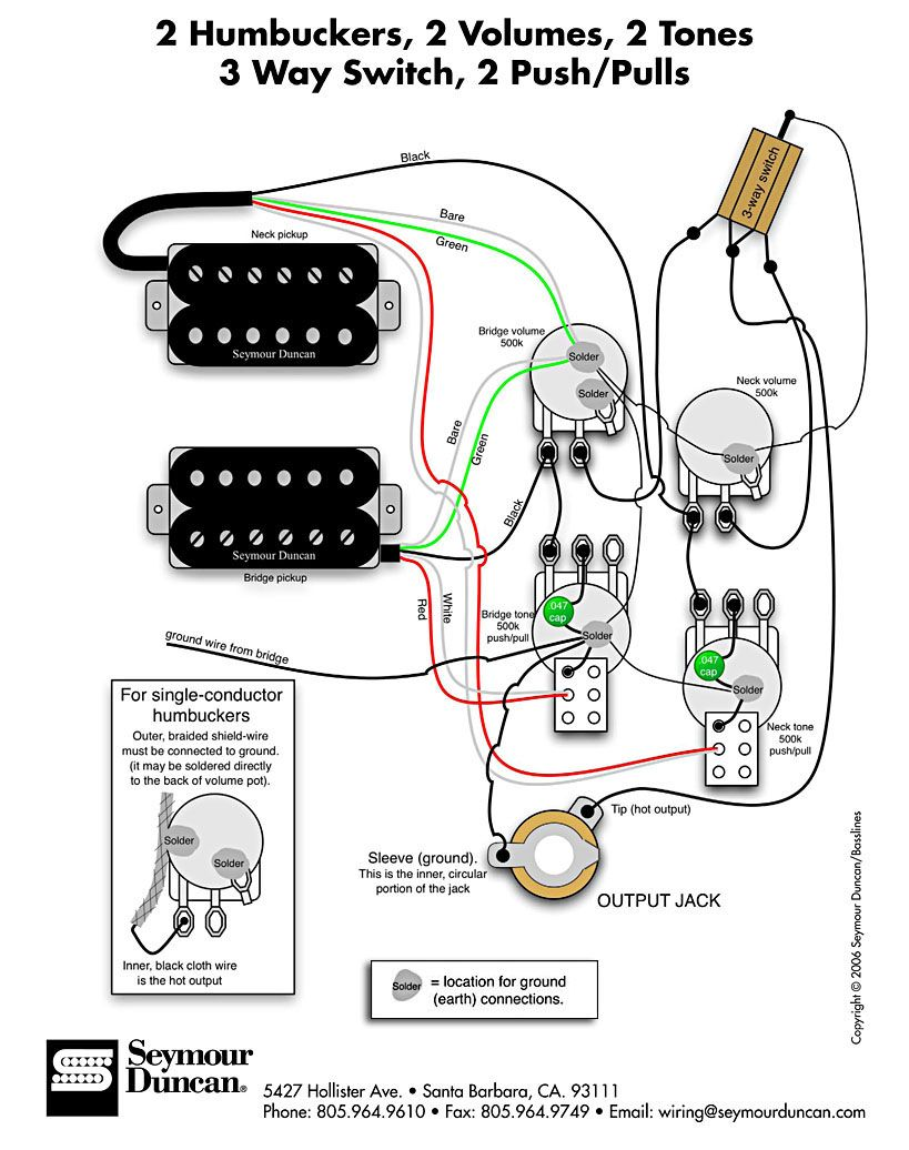 Wiring Diagram Guitar pickups, Guitar tech, Cigar box guitar