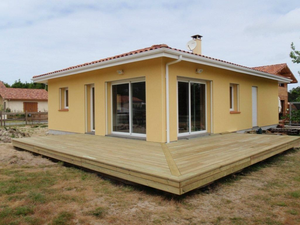 terrasse en bois fondations r alis es sans b ton avec des. Black Bedroom Furniture Sets. Home Design Ideas