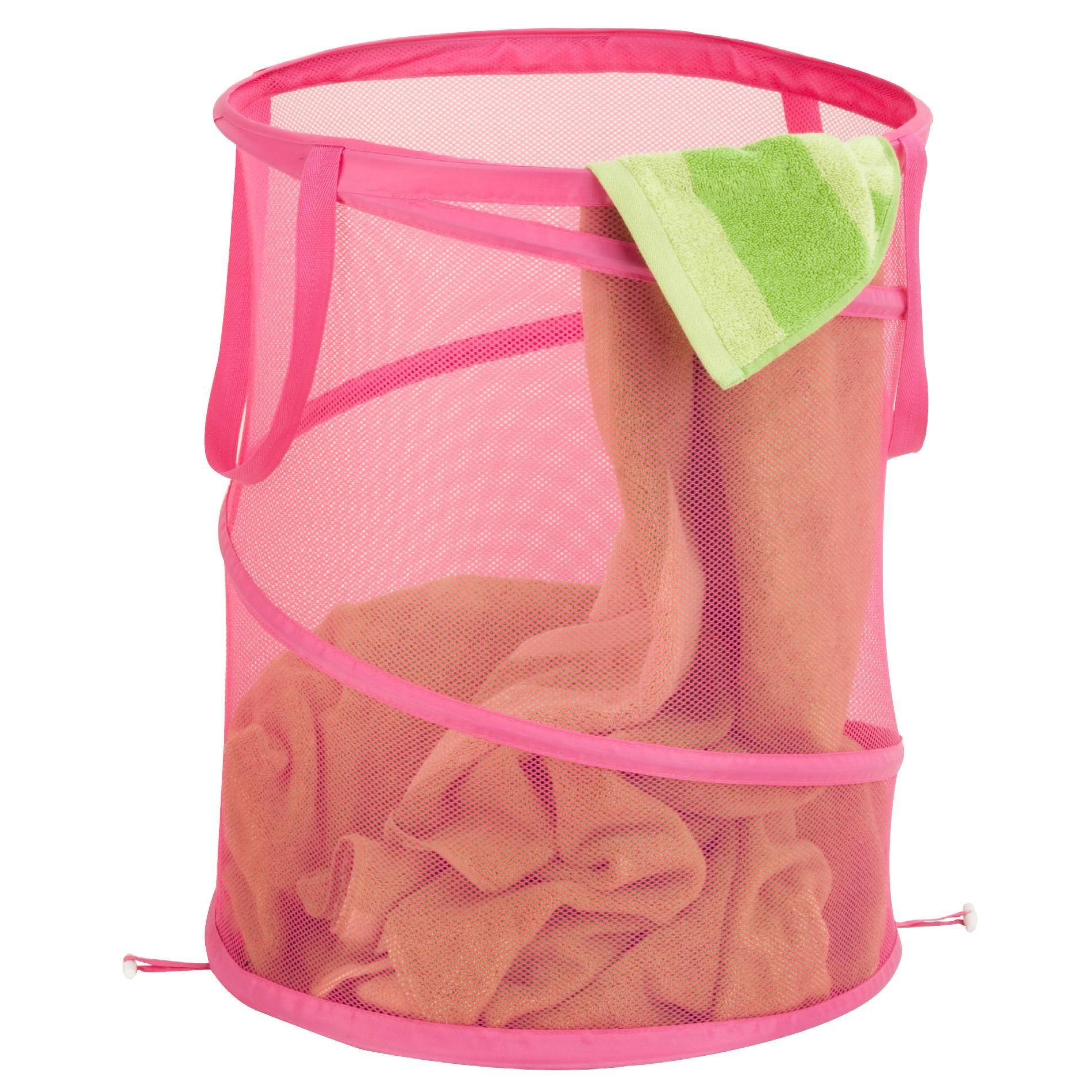 Pink Plastic Laundry Basket Honey Can Do Large Mesh Pop Open Hamper Pink  Products  Pinterest