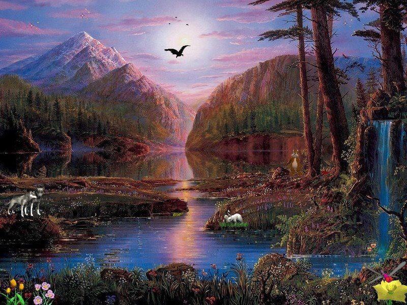 Beautiful Fantasy Landscape Art Beautiful Landscapes Fantasy Landscape Nature Painting Images