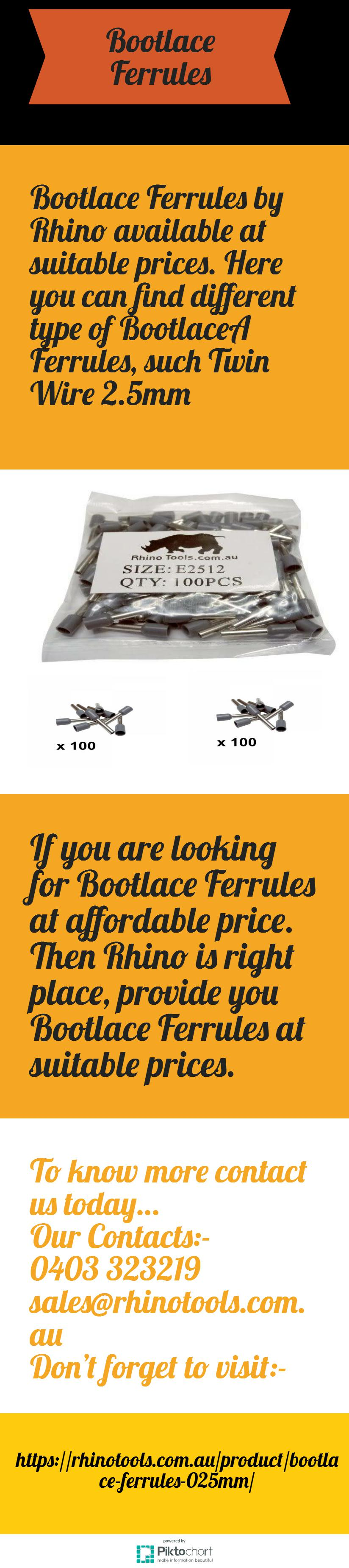 Bootlace Ferrules by Rhino available at suitable prices. Here you ...