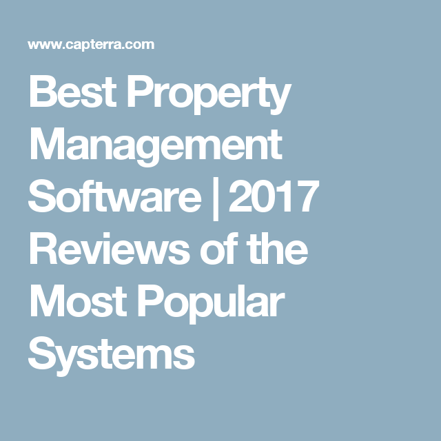 Best Property Management Software 2017 Reviews Of The Most Popular Systems Volunteer Management Software Training Software Nonprofit Software
