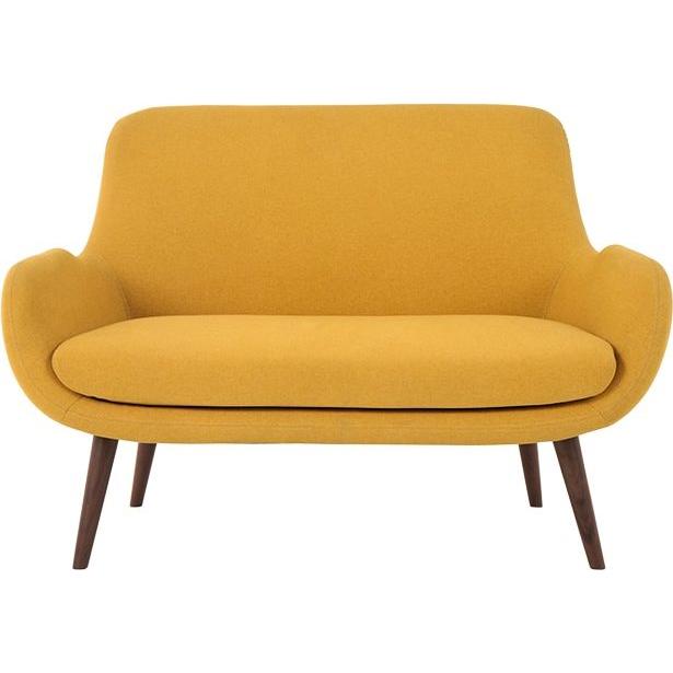 Moby 2 Seater Sofa Yolk Yellow 86 X 124cm 2 Seater Sofa Seater Sofa Love Seat