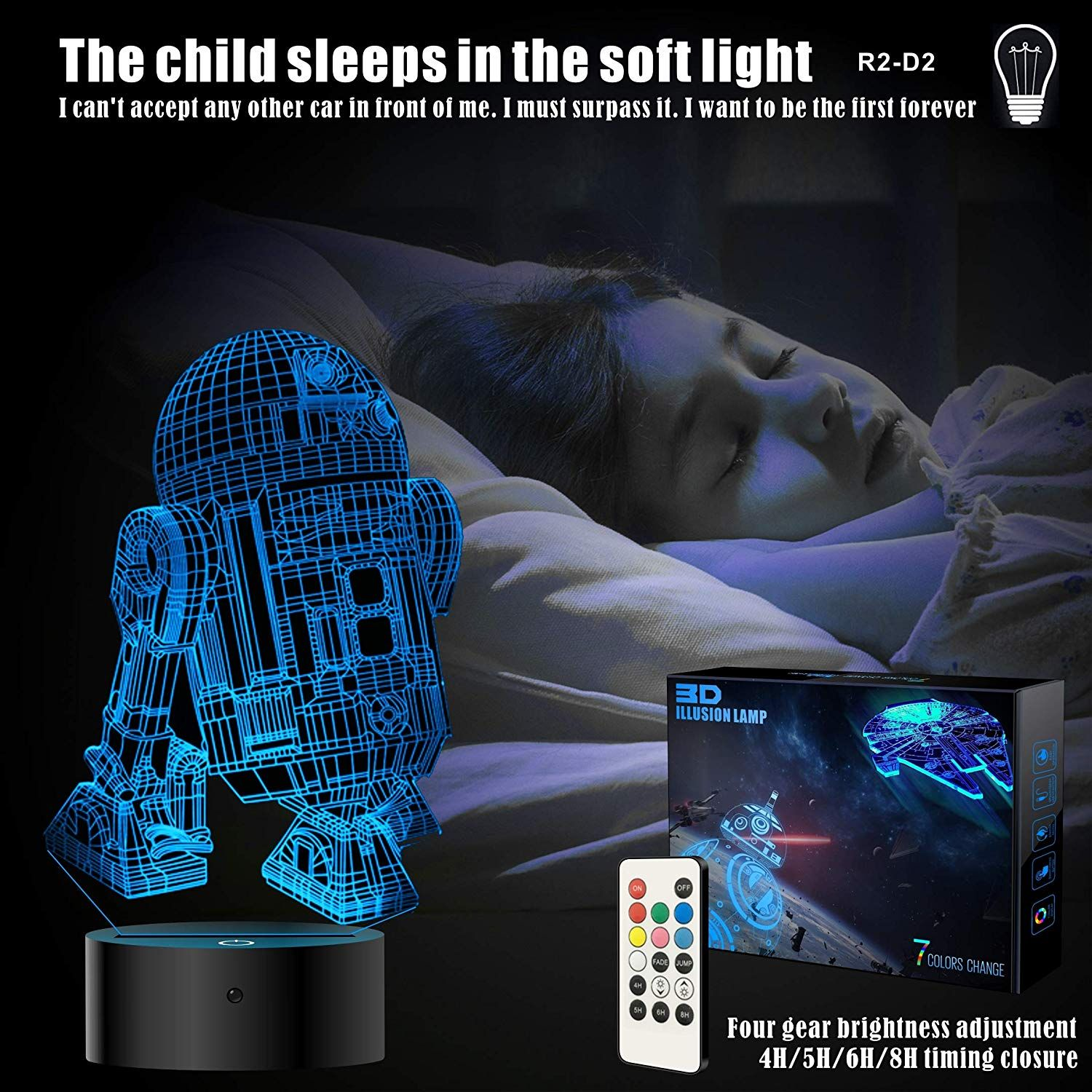 2 Bases Star Wars Gifts 3d Illusion Lamp Star Wars Toys Led Night Light For Kids Room Decor 4 Patterns Star Wars Gifts Star Wars Night Light Kid Room Decor