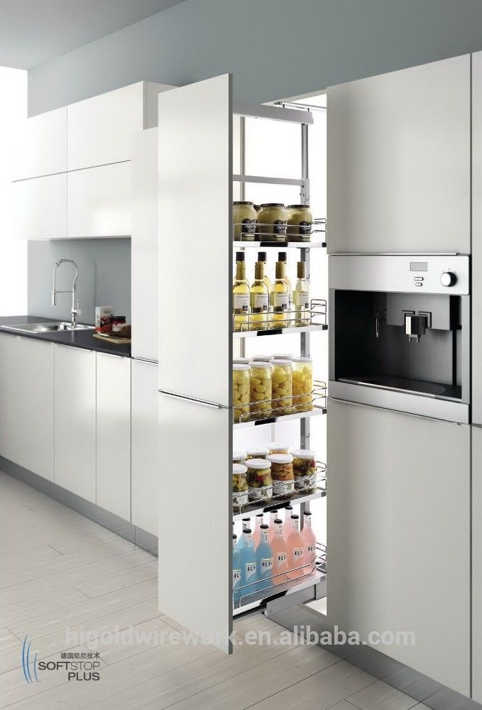 Wire Fashion Kitchen Storage Basket Tall Pull Out Photo Detailed About