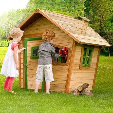 Casita de #madera #infantil, perfecta para #jardín o cualquier tipo - casitas de jardin para nios