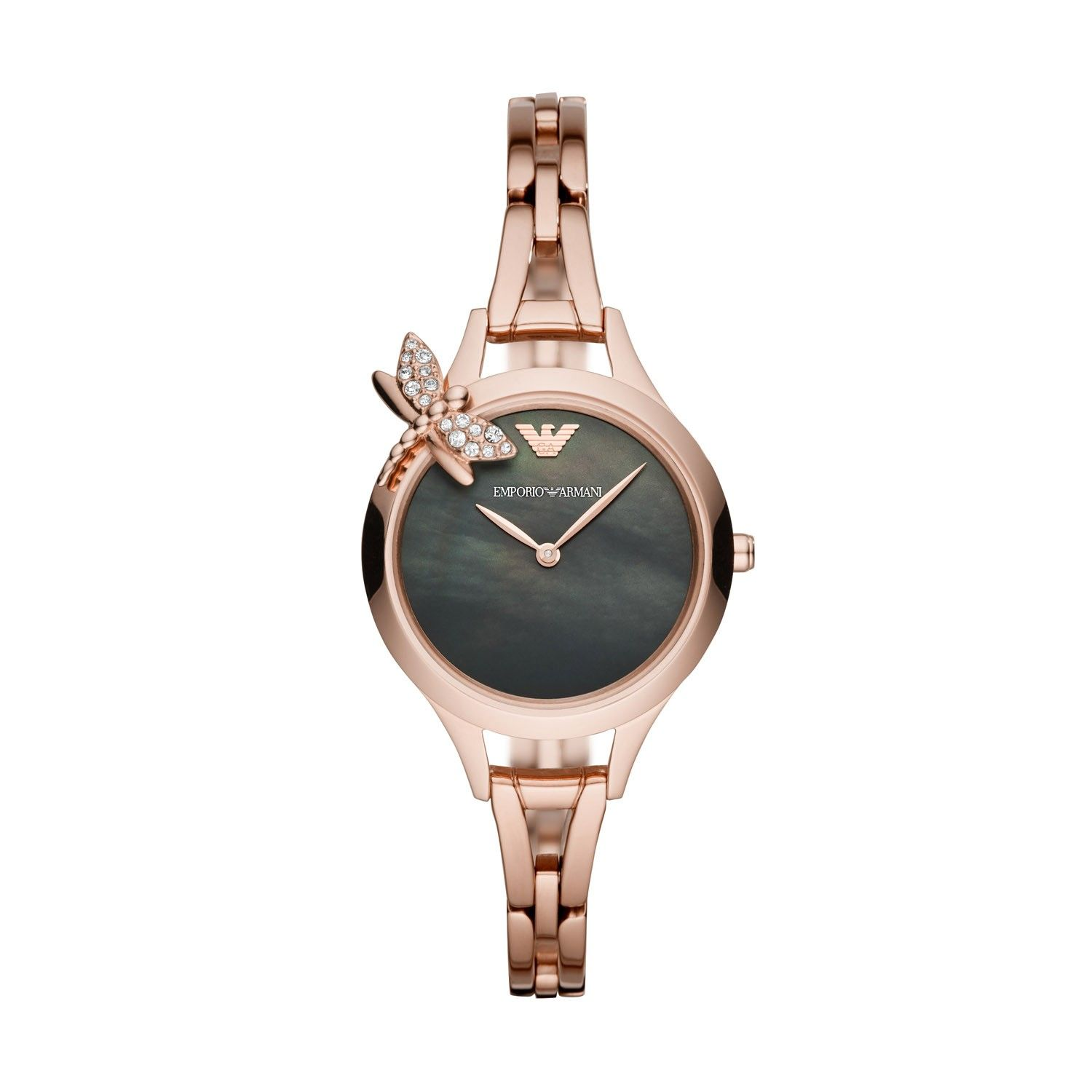 8a93b99a Emporio Armani Black Pearl 32mm Ladies' Watch | Designer watches ...