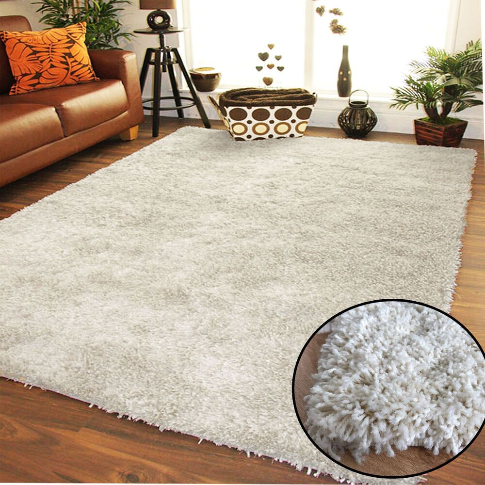 CREAM IVORY THICK PLAIN SOFT SHAGGY RUGS MODERN HIGH PILE HOME KITCHEN  RUNNER | Rugs in living room, Modern rugs, Living room area rugs