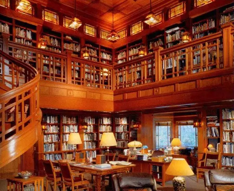 Image Result For Bill Gates House Library