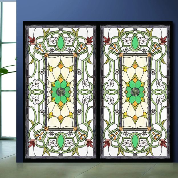 Superior Decorative Stained Glass Windows #4: Colored Drawing Glass Film Wardrobe Bathroom Sticker Fashion European Art  Multicolour Decorative Stained Glass Window Film