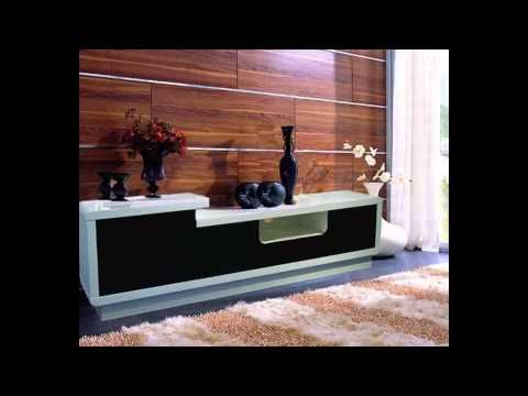 High Gloss Tv Unit in White and Black High gloss tv unit