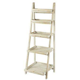 Escalera librero france kei blanco vintage de muebles y - Muebles en escalera ...