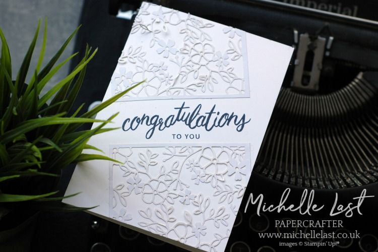 Congratulations card made using friendly expressions