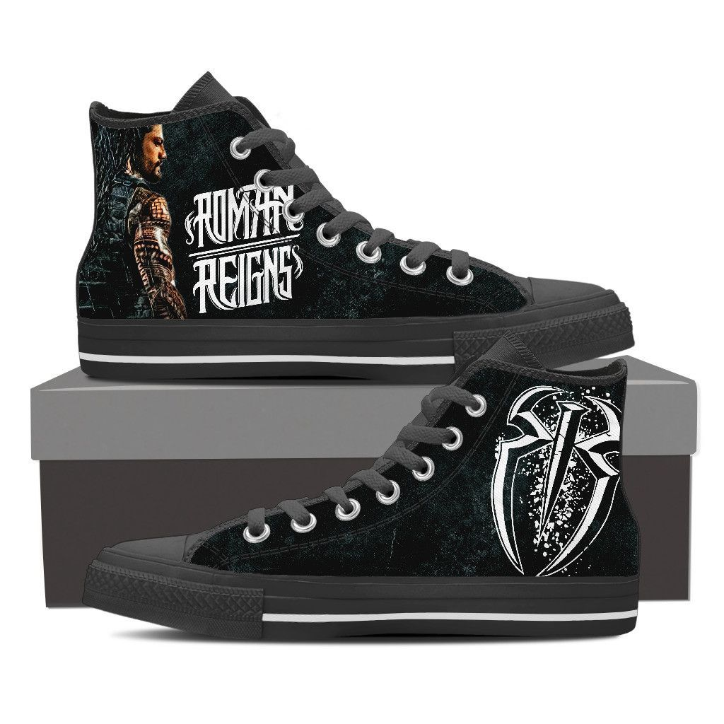 5419e0473b4c3 WWE Roman Reigns Custom Shoes | Clothes ideas | Shoes, High tops ...