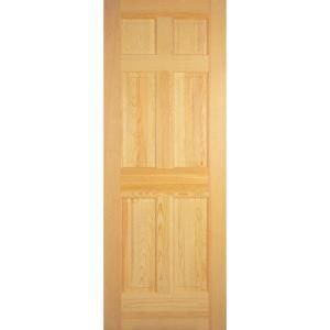 Builder S Choice Clear Pine 6 Panel Interior Door Slab Hdcp6620 At The Home Depot Mobile Prehung Interior Doors Doors Interior Pine Interior Doors