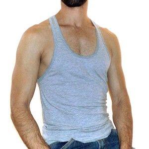 Camiseta regata nadador cavada masculina academia  d290428c3b3