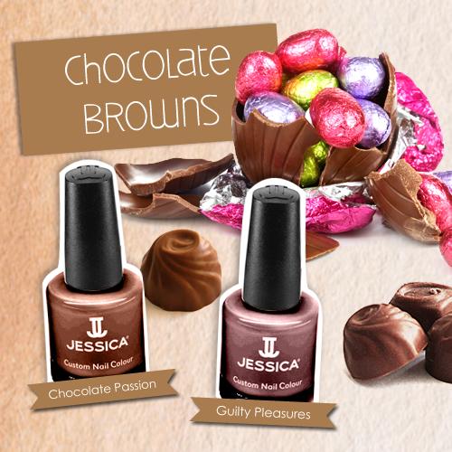 Jessica Christmas Nails: #Nails #Colour #Chocolate #JessicaCosmetics