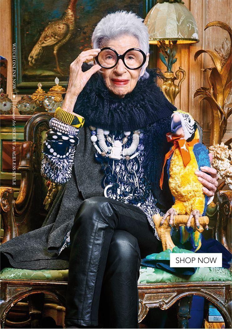 94yearold fashion icon Iris stars in campaign for