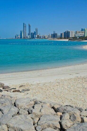 Las playas de Abu Dhabi, Emiratos Árabes Unidos
