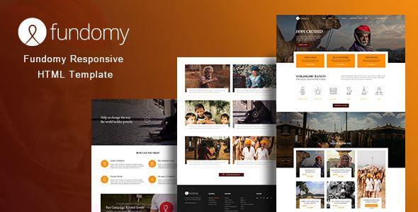 Fundomy - Charity \/ Nonprofit \/ NGO \/ Fundraising HTML Template - ngo templates