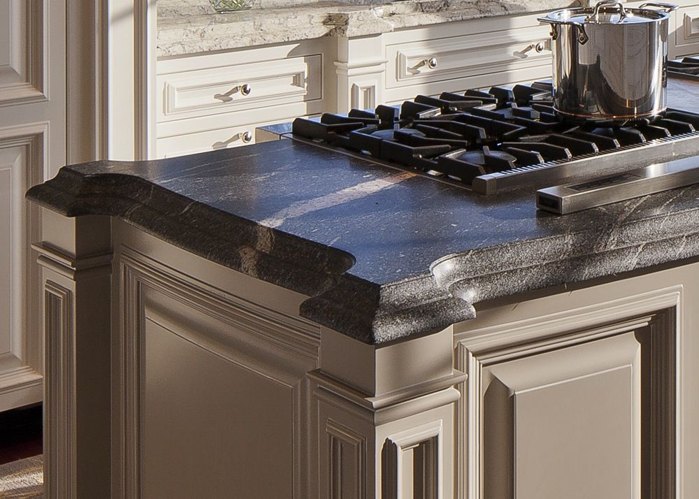 Honed granite countertop in a beautiful kitchen