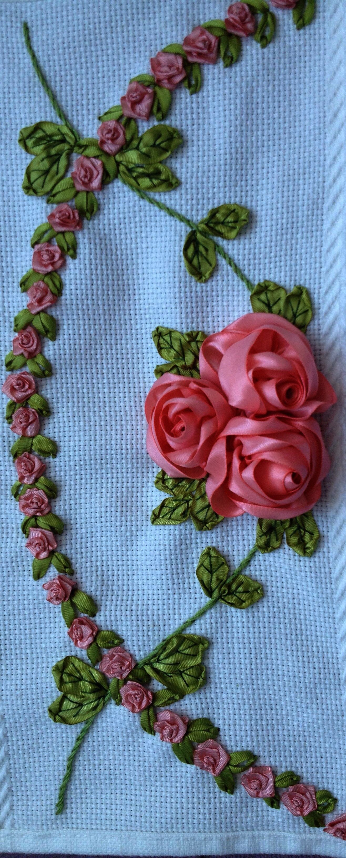 Ribbon Embroidery Greeting Cards Silk Embroidery Patterns Free