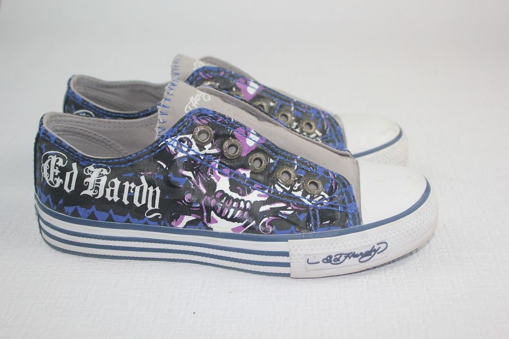 Ed Hardy no lace tennis shoes f934868bd