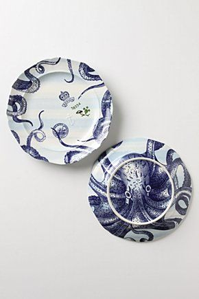 octopus dinnerwear, absolutely in love with this collection from Anthropologie