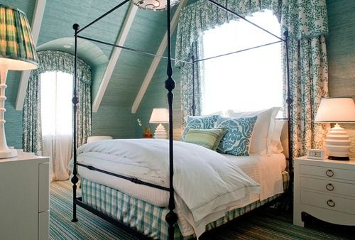 love the intimate decor/coziness of this beach cottage bedroom
