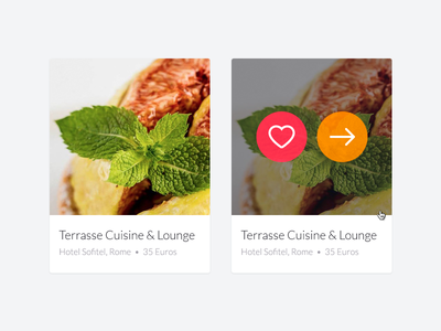 Restaurant Items in Results