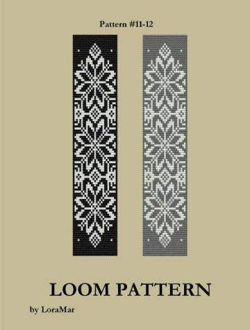 Seed Bead Loom Pattern 11 12 Two Color Palettes Baltic by ...
